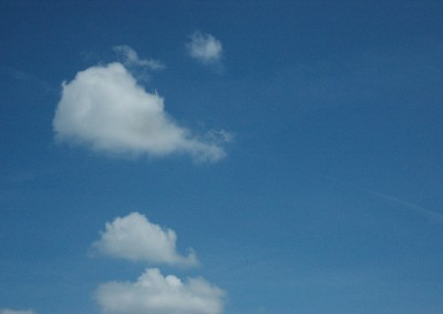 blauwe lucht werkplaats la Muze